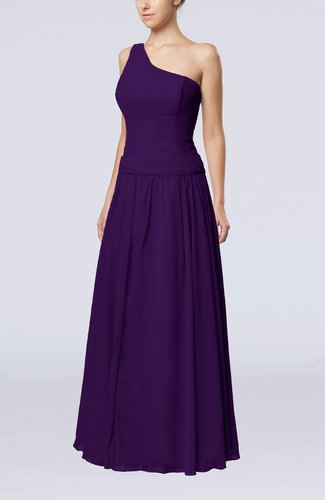 Elegant Sheath Zipper Chiffon Floor Length Wedding Guest Dresses