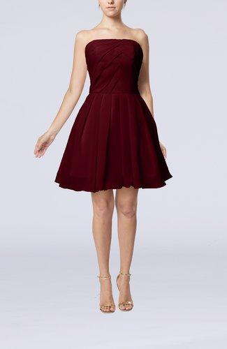 Cute Backless Chiffon Mini Ruching Homecoming Dresses