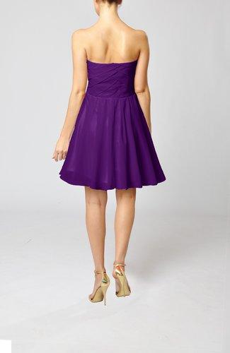 Dark Purple Cute Backless Chiffon Mini Ruching Homecoming ...