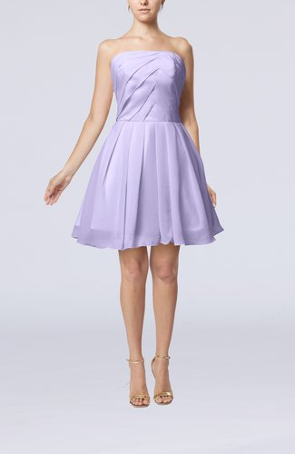 Cute Backless Chiffon Mini Ruching Homecoming Dresses