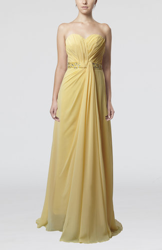 Elegant Sheath Sweetheart Chiffon Sweep Train Ruching Bridesmaid Dresses