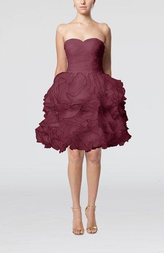 Modern Baby Doll Sweetheart Sleeveless Backless Knee Length Little Black Dresses