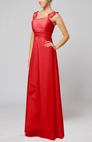 Informal Outdoor Thick Straps Sleeveless Zip up Floor Length Bridal Gowns