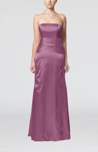 Elegant Strapless Backless Silk Like Satin Ribbon Bridesmaid Dresses