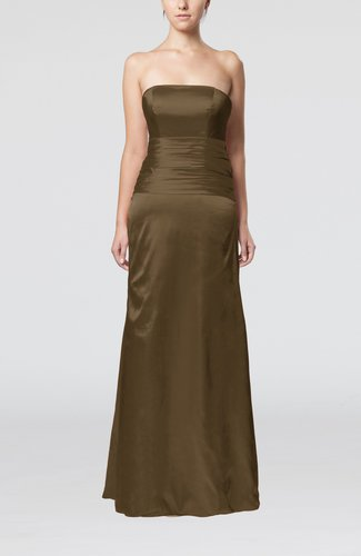 Elegant Strapless Backless Silk Like Satin Ribbon Bridesmaid Dresses