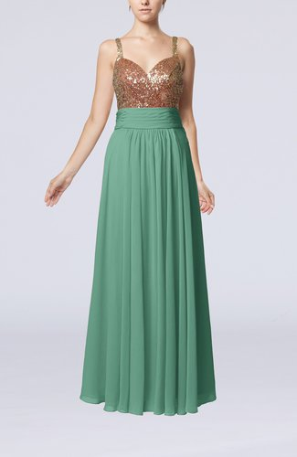 Elegant Empire Sweetheart Sleeveless Backless Chiffon Graduation Dresses