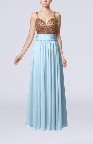 Elegant Empire Sweetheart Sleeveless Backless Chiffon Graduation Dresses