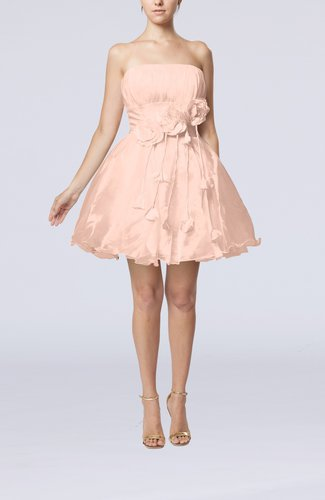 Cinderella Sleeveless Backless Organza Mini Flower Homecoming Dresses