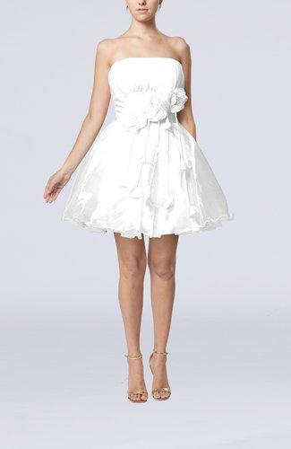 Cinderella Sleeveless Backless Organza Mini Flower Homecoming Dresses
