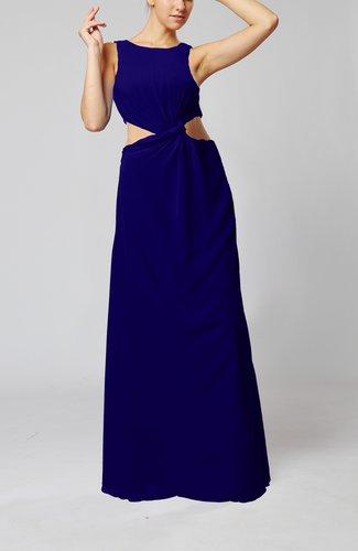 Informal Column Bateau Sleeveless Chiffon Evening Dresses