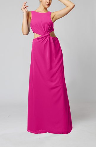 Informal Column Bateau Sleeveless Chiffon Evening Dresses