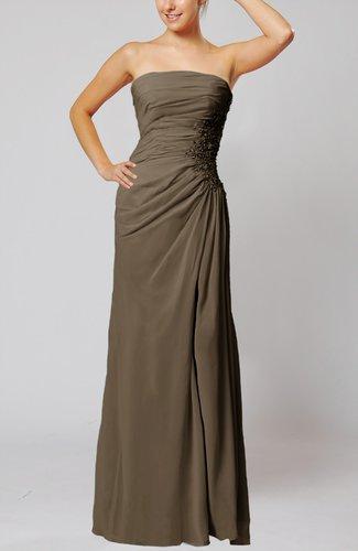 Elegant Sheath Sleeveless Zip up Floor Length Bridesmaid Dresses