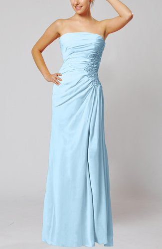 Elegant Sheath Sleeveless Zip up Floor Length Bridesmaid Dresses