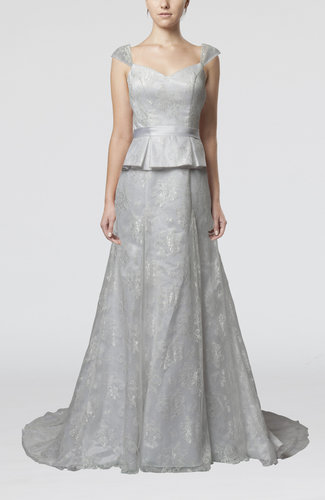 Gorgeous Hall A-line Portrait Sleeveless Backless Bridal Gowns