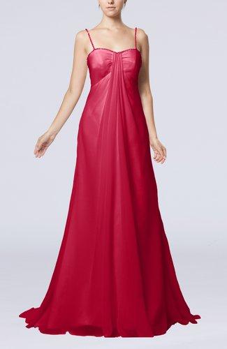 Elegant Destination Empire Sleeveless Backless Chiffon Sweep Train Bridal Gowns
