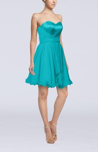 Sexy A-line Zip up Mini Ribbon Graduation Dresses