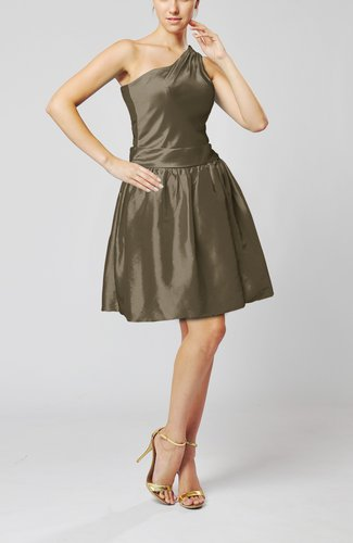 Plain A-line Zipper Taffeta Mini Pleated Prom Dresses
