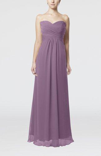 Simple Empire Sweetheart Zipper Ruching Bridesmaid Dresses