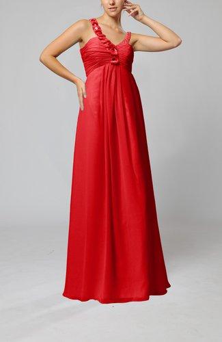 Elegant Empire Zipper Chiffon Floor Length Sequin Bridesmaid Dresses
