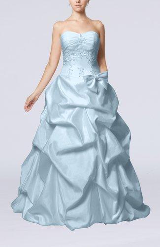Fairytale Outdoor Strapless Sleeveless Zip up Taffeta Floor Length Bridal Gowns