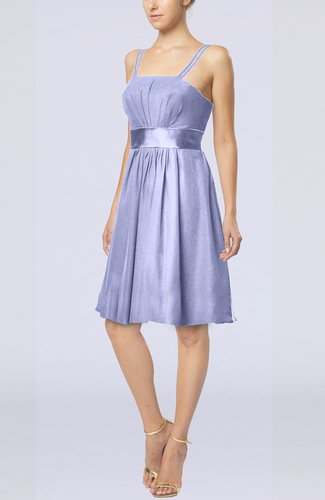 Plain A-line Spaghetti Chiffon Mini Sash Wedding Guest Dresses