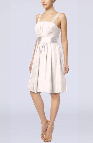 Plain A-line Spaghetti Chiffon Mini Sash Wedding Guest Dresses