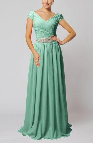 Vintage Sheath V-neck Chiffon Pleated Homecoming Dresses