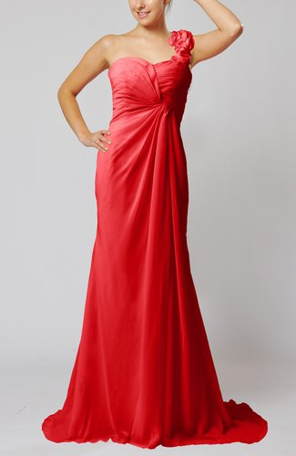 Elegant Empire Sleeveless Criss-cross Straps Court Train Ruching Party Dresses