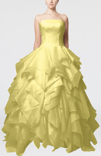 Disney Princess Outdoor Princess Sleeveless Backless Organza Bridal Gowns
