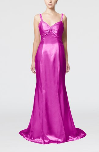 Sexy Sheath Thick Straps Criss-cross Straps Pleated Evening Dresses