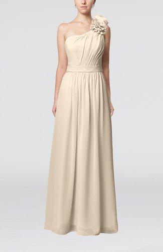 Plain One Shoulder Sleeveless Zipper Floor Length Sash Evening Dresses