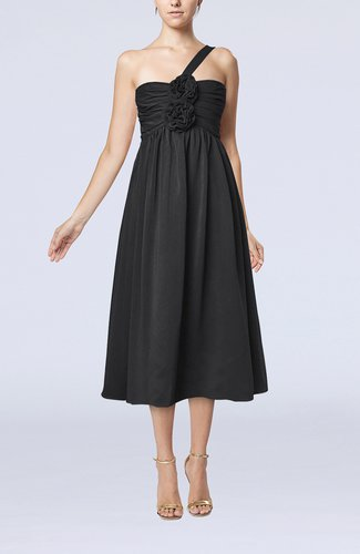 Casual One Shoulder Sleeveless Chiffon Pleated Wedding Guest Dresses