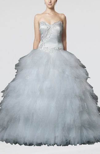 Gorgeous Hall Ball Gown Sweetheart Sleeveless Beaded Bridal Gowns