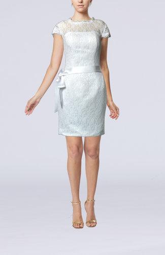 Antique Outdoor Zipper Mini Lace Bridal Gowns
