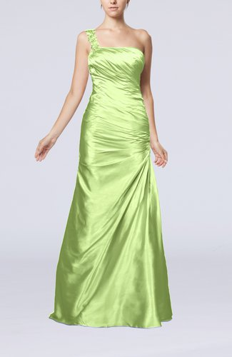 Gorgeous Column Sleeveless Zip up Silk Like Satin Floor Length Evening Dresses