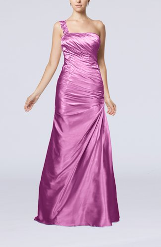 Gorgeous Column Sleeveless Zip up Silk Like Satin Floor Length Evening Dresses
