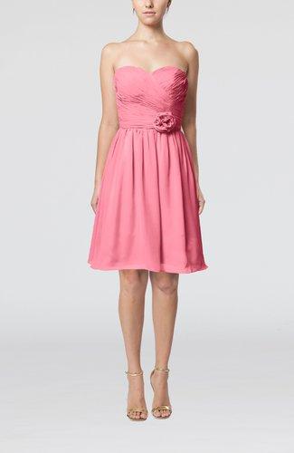 Romantic Sweetheart Zipper Knee Length Flower Bridesmaid Dresses
