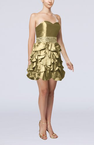 Sexy A-line Sleeveless Backless Taffeta Prom Dresses