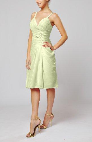 Plain Sleeveless Backless Chiffon Ruching Wedding Guest Dresses