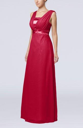Elegant Empire Thick Straps Sleeveless Chiffon Floor Length Wedding Guest Dresses
