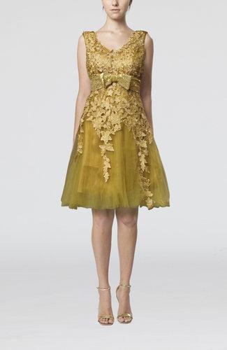 Modest Sleeveless Zip up Knee Length Cocktail Dresses
