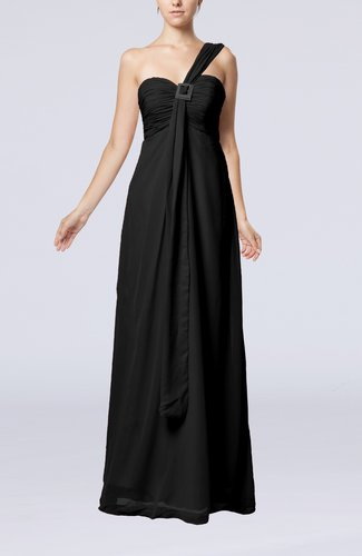 Plain Empire Zipper Chiffon Floor Length Ruching Bridesmaid Dresses
