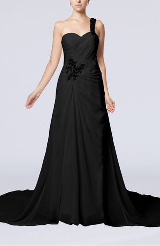Romantic Church One Shoulder Sleeveless Zip up Rhinestone Bridal Gowns