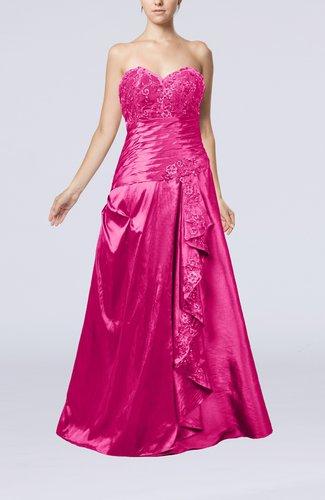 Luxury Sweetheart Zipper Taffeta Floor Length Ruffles Evening Dresses