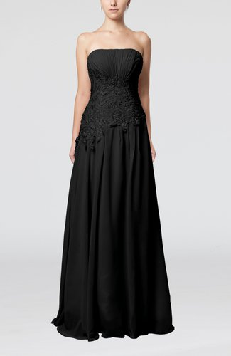 Romantic A-line Strapless Sleeveless Backless Pleated Prom Dresses