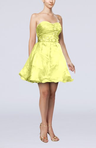 Modern Baby Doll Sweetheart Backless Short Homecoming Dresses