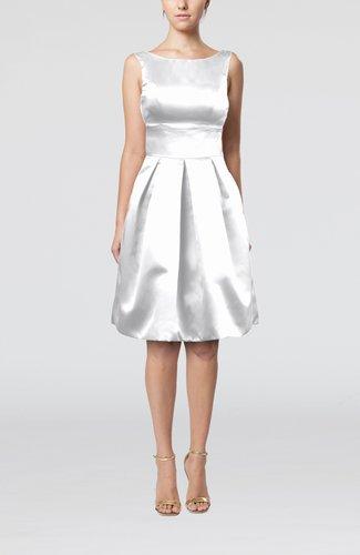 Plain A-line Sleeveless Knee Length Sash Bridesmaid Dresses