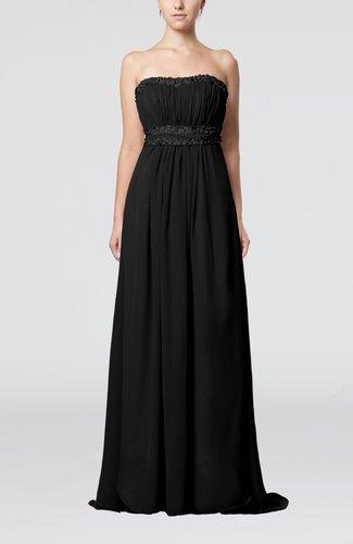 Elegant Empire Sweetheart Chiffon Brush Train Beaded Evening Dresses