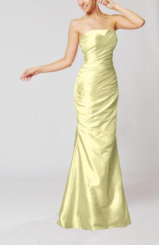 Elegant Church Mermaid Strapless Sleeveless Zipper Ruching Bridal Gowns