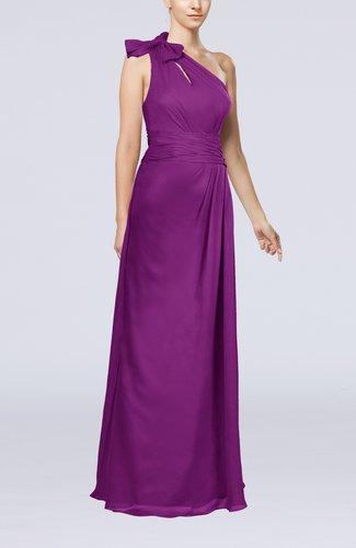Elegant Asymmetric Neckline Zip up Chiffon Floor Length Mother of the Bride Dresses